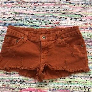 Size 26 Orange Rust Carmar Denim Shorts